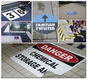 Safety Signs floor vinyl graphics sign outdoor indoor 300x271